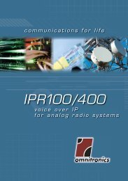 IPR100/400 voice over ip for analog radio systems