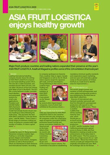 o ASIA FRUIT LOGISTICA enjoys healthy growth - Asiafruit Congress