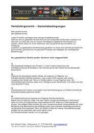 Verkäufergarantie - Garantiebedingungen - Motobay