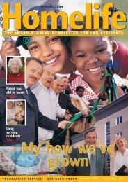Homelife Winter 2003 - London & Quadrant Group