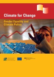 Gender Equality and Climate Policy - Gender Climate