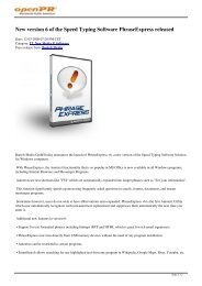 New version 6 of the Speed Typing Software ... - openPR.com
