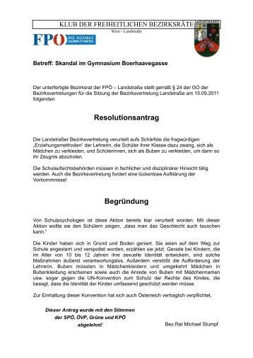 BV-Sitzung September 2011 - Landstraßer FPÖ
