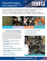 Optical Packaging and Integration - AMS Technologies