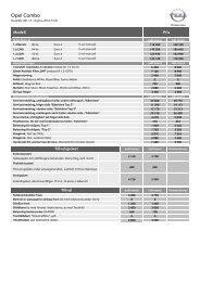 Ladda ner aktuell pris- och produktfakta i PDF - Opel