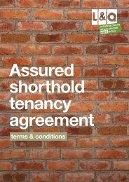 Assured shorthold agreement - London & Quadrant Group