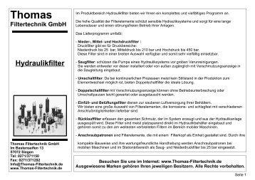 Thomas Filtertechnik GmbH