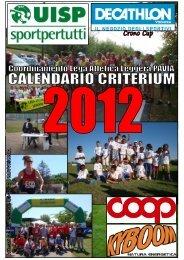Calendario e Regolamento - Atletica Varazze