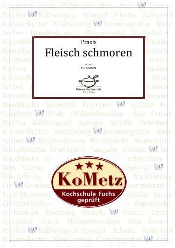 Fleisch schmoren (bitte anklicken) - KoMetz (kochender Metzger