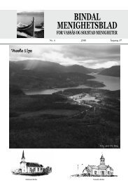 Menighetsbladet nr 4-2010 - Bindal kommune