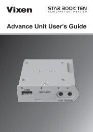 Advance Unit User's Guide - Vixen Optics