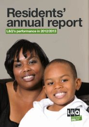 Residents' annual report 2013 - London & Quadrant Group
