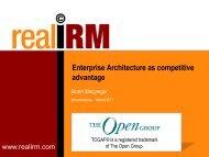 Enterprise Architecture as competitive advantage - The Open Group
