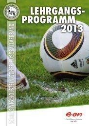 Lehrgangs- programm 2013 - Uwe Seeler Fußball Park