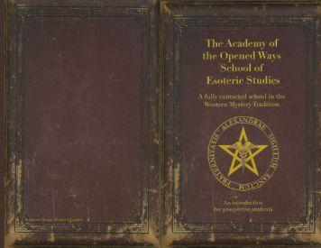 Brochure Design: Debbie Chapnick - Academy of the Opened Ways