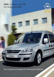 OPEL Combo 1.6 CNG mit Erdgasantrieb - Opel-Infos.de