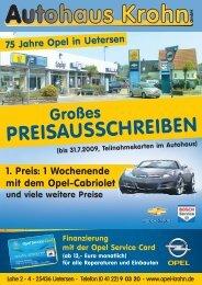 PREISAUSSCHREIBEN - Autohaus Krohn in Uetersen