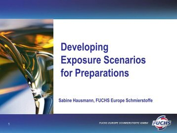 Exposure Scenario for Preparations