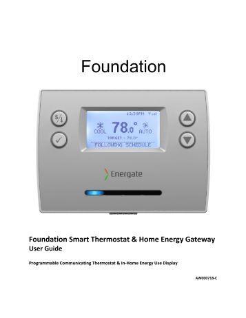 foundation smart thermostat home energy gateway user ccm. Black Bedroom Furniture Sets. Home Design Ideas