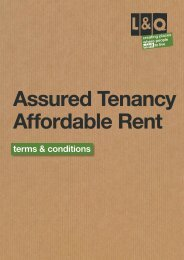 terms & conditions - London & Quadrant Group
