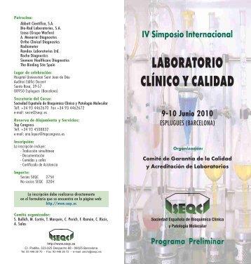 LABORATORIO CLÍNICO Y CALIDAD - QCNet