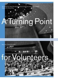 Turning Point - United Nations Volunteers