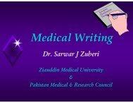 Dr. Sarwar J Zuberi.pdf - Institute of Basic Medical Sciences