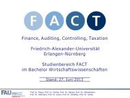 FACT im Master - FACT- Finance Auditing Controlling Taxation ...