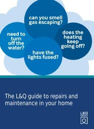 The L&Q guide to repairs and maintenance in your home