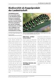 Biodiversität als Koppelprodukt der Landwirtschaft - dudda.ch