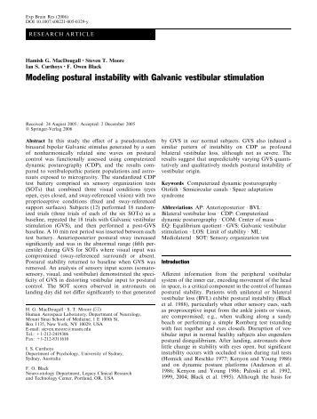 galvanic vestibular stimulation thesis Galvanic vestibular stimulation has the potential of up-regulating thèse ou mémoire numérique / electronic thesis or biblioteca digital redentor.