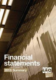 2013: Summary - London & Quadrant Group