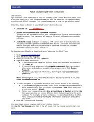 MyLab Course Registration Instructions Dear Student, Your ...