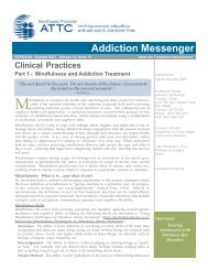 Clinical Practices Part 1 – Mindfulness And ... - the ATTC Network