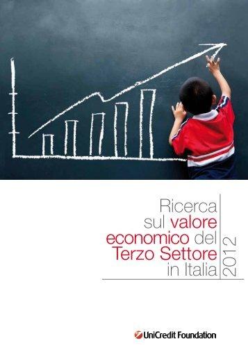 Ricerca sul valore economico del Terzo Settore in Italia 2012