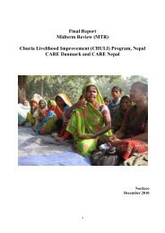 (MTR) Churia Livelihood Improvement (CHULI ... - CARE Danmark