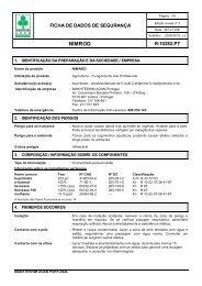 Ficha de Segurança - Makhteshim Agan - Portugal