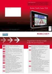 Manual pdf Becker Traffic Assist 7928 - Onyougo.com