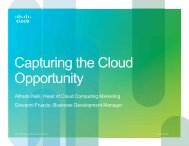 Capturing the Cloud Opportunity - Cisco Knowledge Network