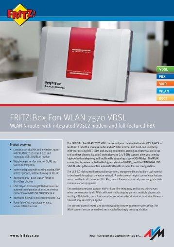 FRITZ!Box Fon WLAN 7570 VDSL - Onyougo.de