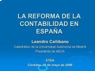 la reforma contable en españa: armonización con las nic/niif - Aeca