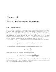 Chapter 6 Partial Differential Equations