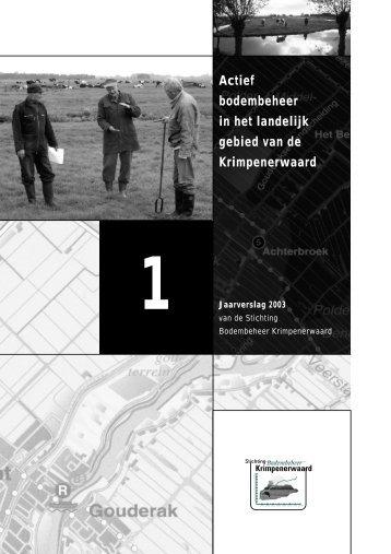 Jaarverslag 2003 - SBK-Krimpenerwaard.nl