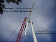 Army Policy Considerations for Green Sustainable ... - E2S2