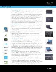 Manual pdf Sony VPCF133FX/B - Onyougo.com
