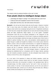 From plastic block to intelligent design object - VEXO remote control