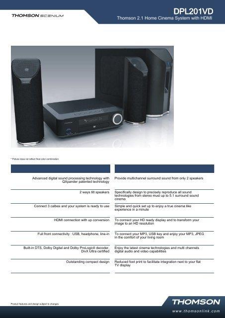 Manual pdf Thomson DPL 201 VD - Onyougo com