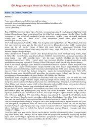 IBP Angga Antagia: Umar bin Abdul Aziz, Sang Fiskalis Muslim - SKP