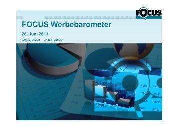 Download Focus Werbebarometer 06/2013 - Gewista