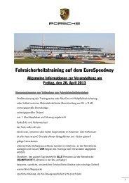 Teilnehmer-informationen - Porsche
